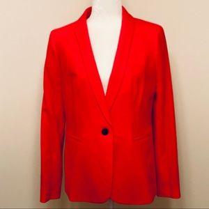J.Crew Parke Blazer in Wool Flannel- Red- Size 8